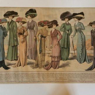 ANCIENNE AFFICHE - LA MODE EN 1909