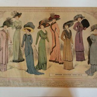 ANCIENNE AFFICHE - LA MODE , SAISON D'HIVER 1909 - 1910