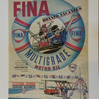 Affiche publicitaire FINA