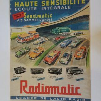 AFFICHE POSTER auto radio RADIOMATIC