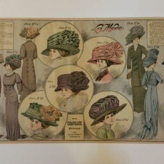 Ancienne affiche - La mode en 1910