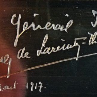 Magnifique mallette de voyage plein cuir offerte au Général Maurice Janin par le comte Foulques de Lareinty Tholozan