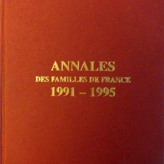 Annales des familles de France 1991 - 1995