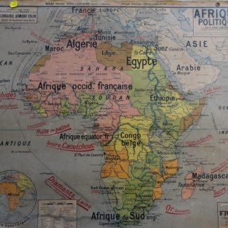 Carte Vidal Lablache N°17 Afrique politique