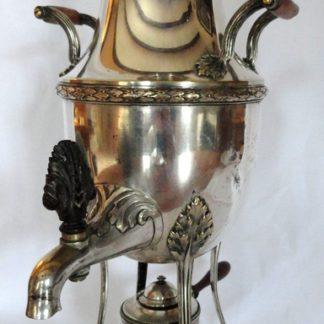 Samovar en métal argenté style Louis XVI