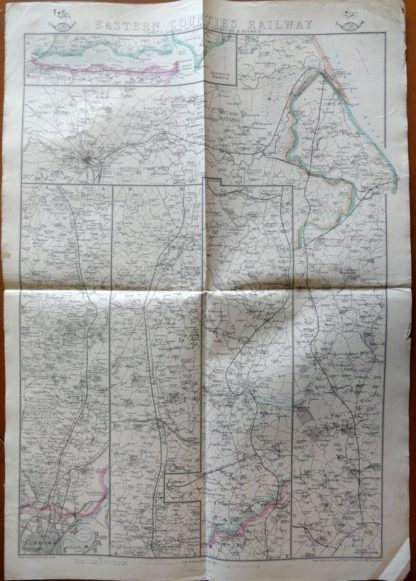 Eastern Counties Railway (Sheet 1. London to Ipswich Yarmouth & Norwich)