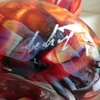 Vase en verre soufflé Gérard TORCHEUX