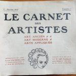 Le carnet des artistes, art ancien - art moderne - arts appliqués