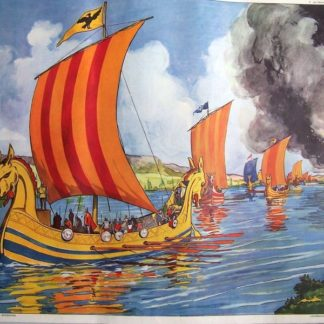affiche Rossignol, les normands/ attaque château fort
