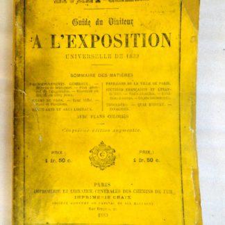 Guide de visiteur à l'exposition universelle de 1889
