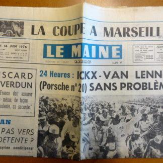Journal – Le Maine Libre n° 9590 du 14/06/1976