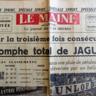 Journal – Le Maine Libre du Dimanche 23/06/1957 (Spéciale sprint)