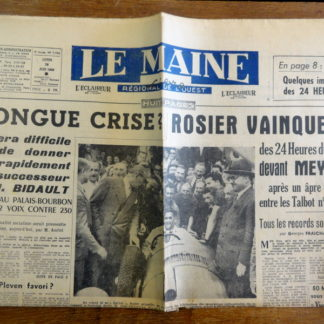 Journal – Le Maine Libre du Dimanche 26/06/1950. 6 e année N° 1.790