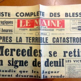 Journal – Le Maine Libre (2 e spéciale) du Dimanche 12/06/1955