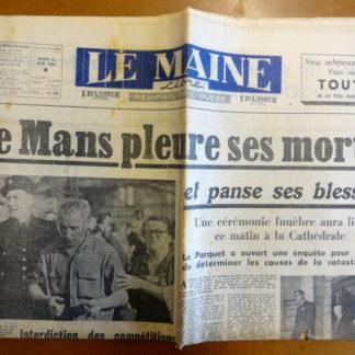 Journal - Le Maine Libre n° 3221 du 14/06/1955