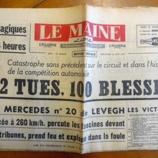 Journal – Le Maine Libre (Édition spéciale) du Dimanche 12/06/1955