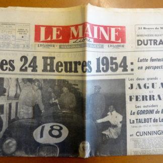 Journal – Le Maine Libre N° 3.918 du Dimanche 12 et 13/06/1954