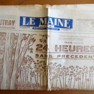 Journal – Le Maine Libre N° 2.090 du Samedi 23 et Dimanche 24/06/1951