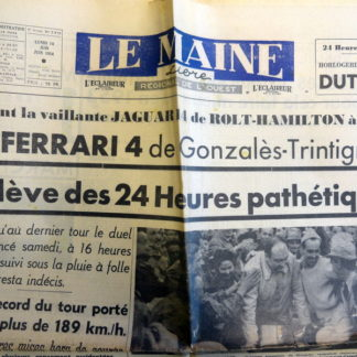 Journal – Le Maine Libre du Lundi 04/06/1954. 8é année N° 3.919