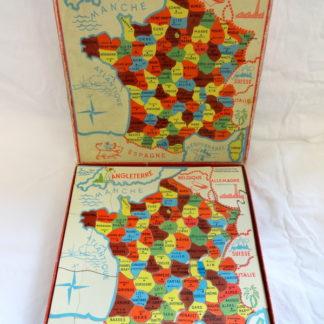 """Jeux éducatif """"F.N"""" FRANCE PUZZLE par départements"""