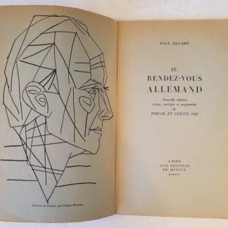 Au Rendez-Vous Allemand suivi de Poésie et Vérité 1942, Eluard (Paul) - Picasso (Pablo)