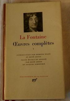 La Fontaine, Œuvres Complétés Tome 1, Bibliothèque de la Pléiade
