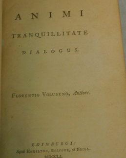 De Animi, Tranquillitate, Dialogus