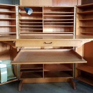 Cabinet bureau d'intérieur compact - typique des années 50-60