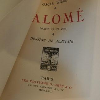 Oscar Wilde, Salome, dessins d'Alastair