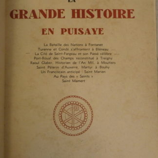 Pierre- Georges Grossier, la grande histoire en puisaye