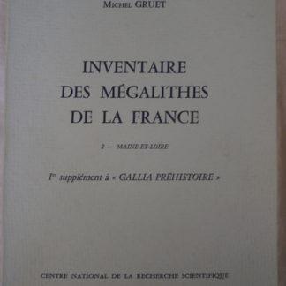 Michel Gruet, inventaire des mégalithes de la France, Maine et Loire