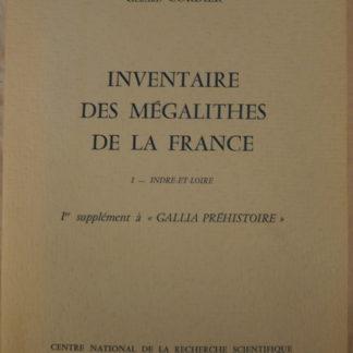 Gérard Cordier, Inventaire des Mégalithes de la France, Indre et Loire
